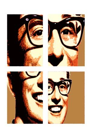 Buddy Holly A2 Pop Art, seen on amazon.uk