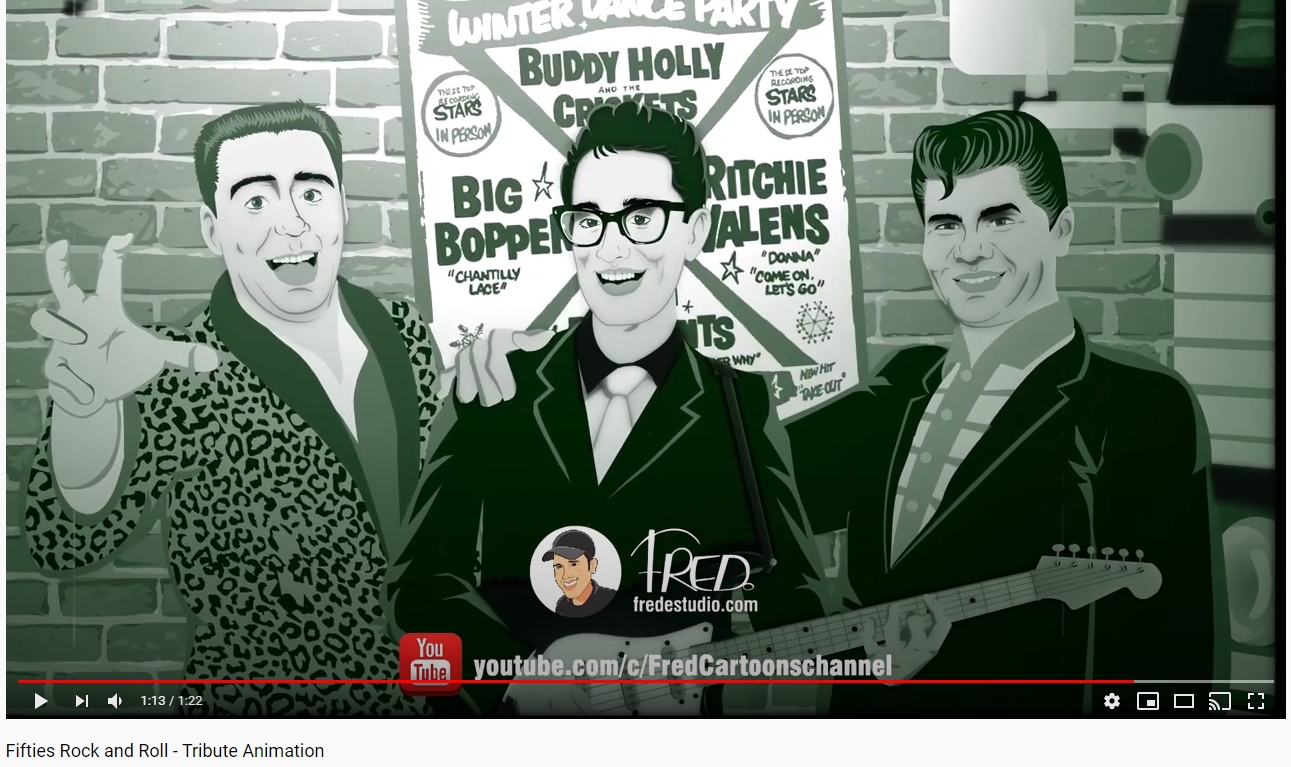 Fifties Rock and Roll - Tribute Animation by Frederico Wladimir
