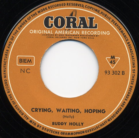 CRYING WAITING HOPING - BUDDY HOLLY