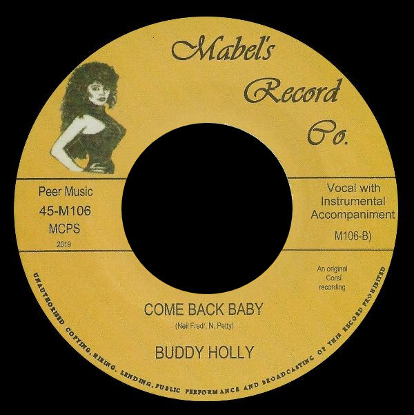 MABEL'S RECORD Co. 45-M106 (UK Bootleg 2019)