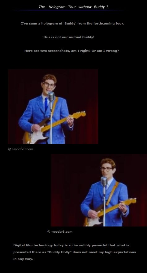Buddy Holly News 6 about the Hologram Tour