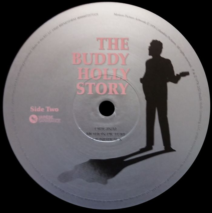 "THE BUDDY HOLLY STORY - VARESE SARABANDE 00888072171121 EU (Netherlands) 2020 Deluxe Edition of the Original Soundtrack vinyl 12"" LP"