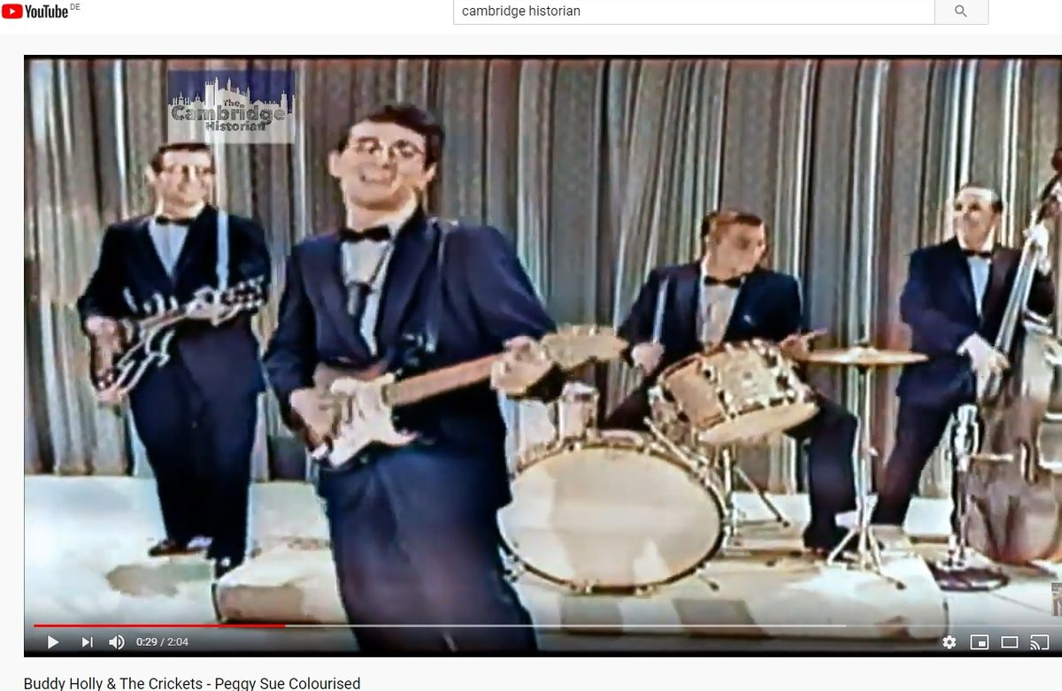 Buddy Holly & The Crickets - Peggy Sue Colourised by Fonz Chamberlain