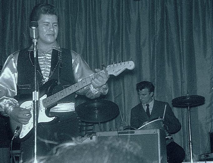Ritchie Valens on stage, WDP Tour, 1959