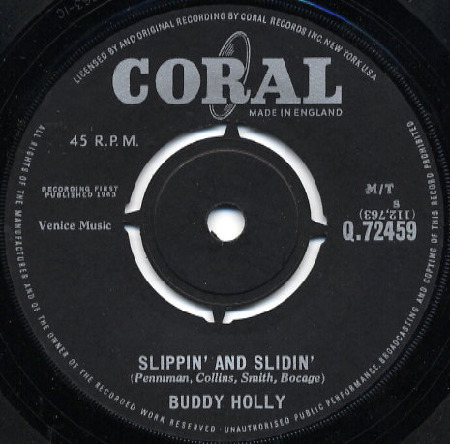 SLIPPIN' AND SLIDIN' - BUDDY HOLLY