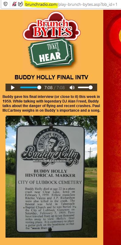 Listen to the audio file about Buddy Holly
