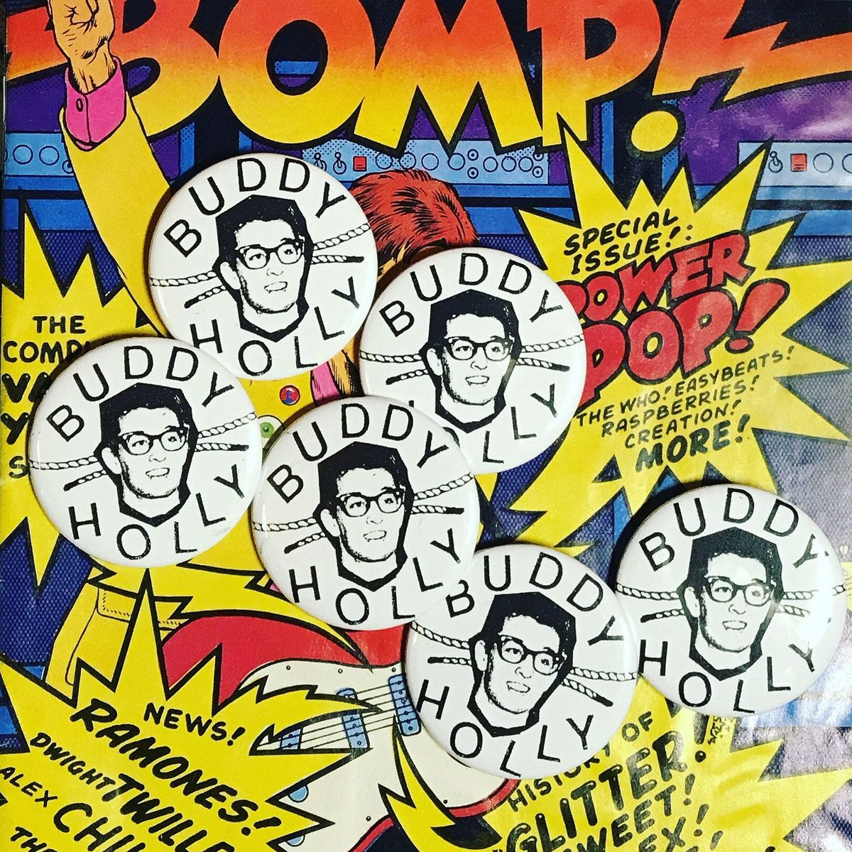 Buddy Holly pin, as seen on lowlevel