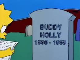 Buddy Holly Grave - From the Simpsons TV series - As seen on getyam.io