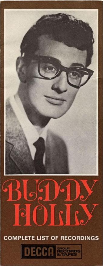 1960's UK DECCA brochure listing Buddy Holly UK LP & Tape releases