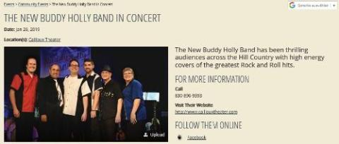 The New Buddy Holly Band In Concert