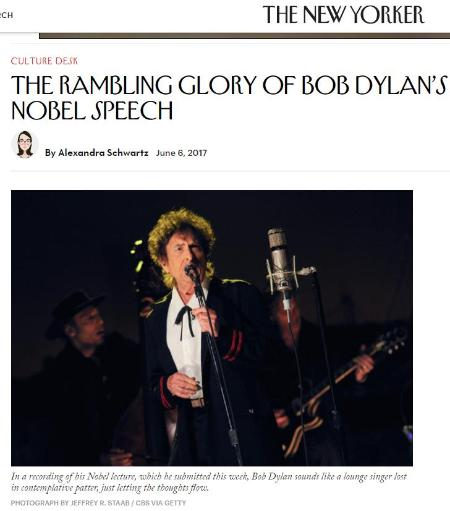 The Rambling Glory of Bob Dylan's Nobel Speech