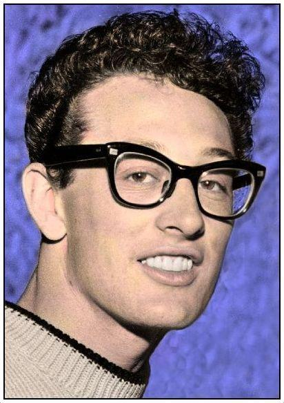 Buddy Holly colourized by Peter F. Dunnet