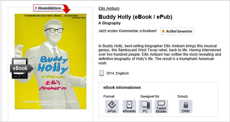 Buddy Holly by Ellis Amburn