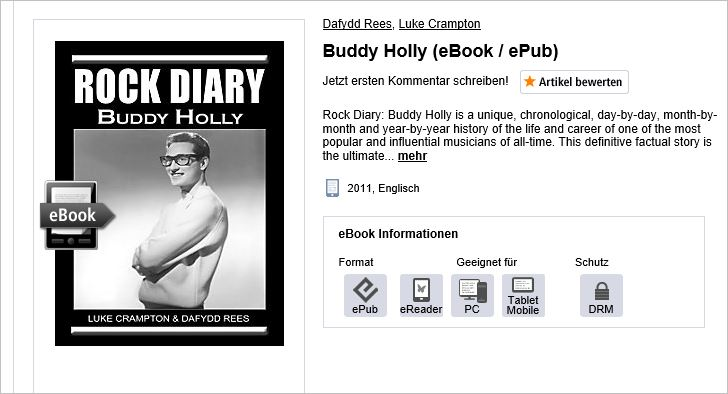 Rock Diary Buddy Holly