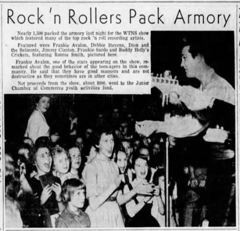 Ronnie Smith fronting the Crickets WDP 1959