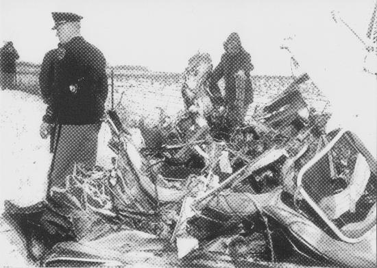 CRASH SITE - ALBERT JUHL FARM - 3-2-1959