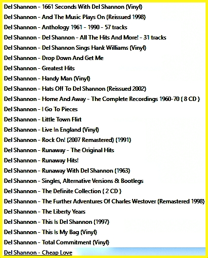 DEL_SHANNON_COLLECTION
