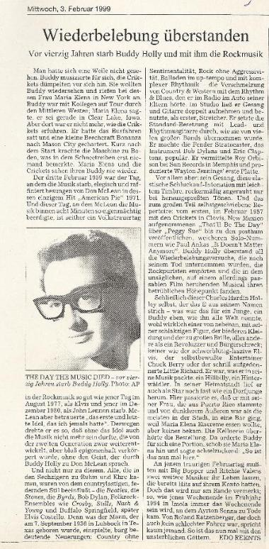 Buddy Holly report in the German press