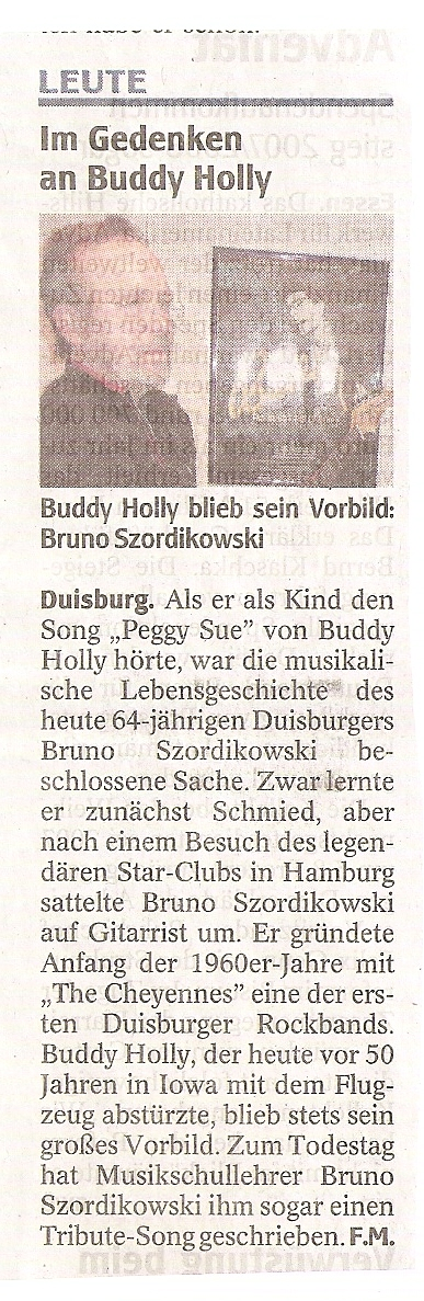 German Buddy fan, from the papers