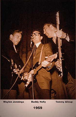 Buddy Holly with Waylon and Tommy - Winter Dance Party Package Tour 1959