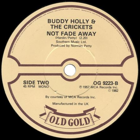 BUDDY HOLLY & THE CRICKETS Not fade away