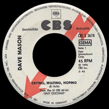 Dave Mason - Crying, Waiting, Hoping