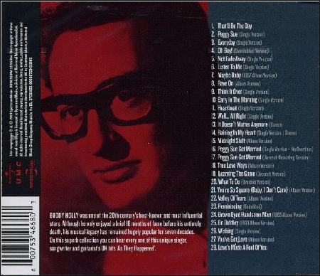 Buddy Holly  -  THE HITS AS THEY HAPPENED