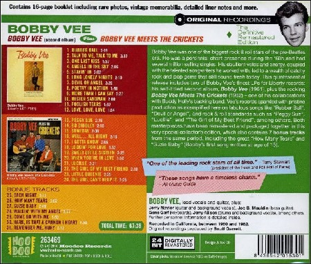 BOBBY VEE + BOBBY VEE MEETS THE CRICKETS