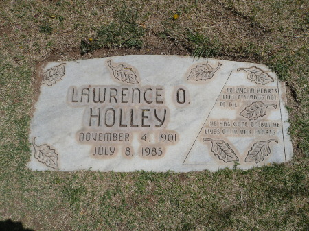 Lawrence O. Holley's Grave