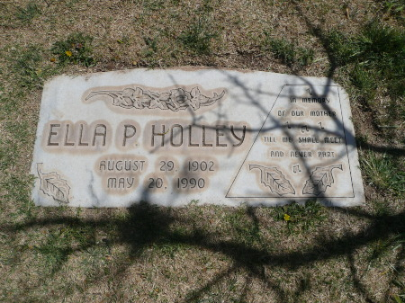 Ella P. Holley's Grave