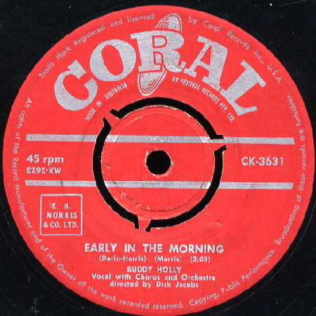 BUDDY HOLLY Early In The Morning