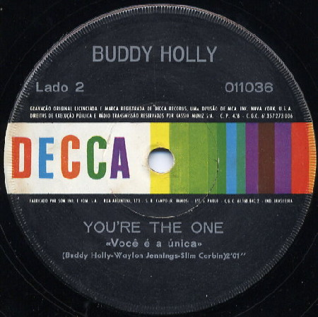 Buddy Holly YOU'RE THE ONE Do Brasil