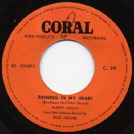 RAINING IN MY HEART - Eine 45er Vinyl aus Hongkong - Buddy Holly