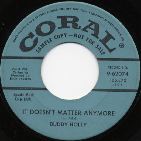 It doesn't matter anymore BUDDY HOLLY USA
