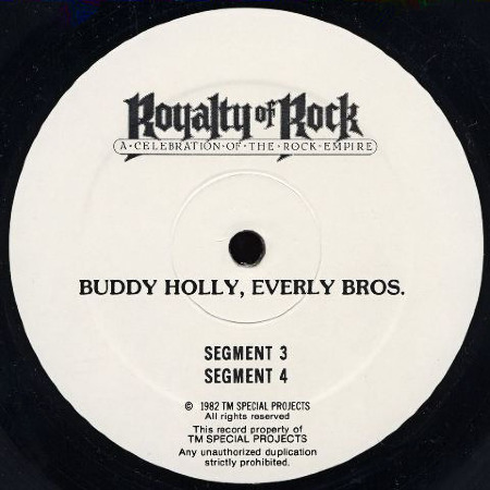 ROYALTY OF ROCK, Buddy Holly, Everly Bros.