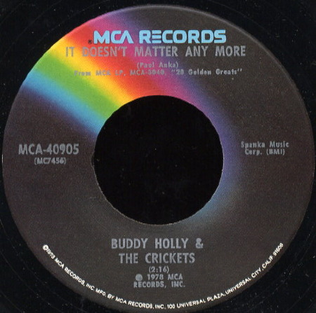 IT DOESN'T MATTER ANYMORE Buddy Holly