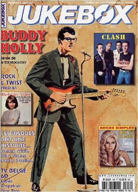 JUKEBOX Magazine No.326 February 2014  France BUDDY HOLLY
