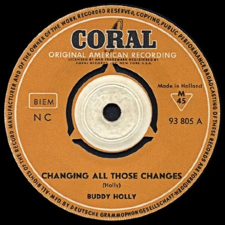 BUDDY HOLLY - CHANGING ALL THOSE CHANGES