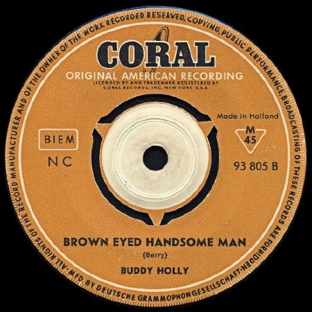 BUDDY HOLLY - BROWN EYED HANDSOME MAN
